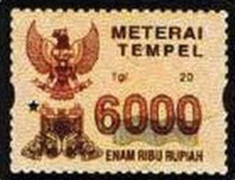 Rp 85 000 Materai 6000 materai lama indonesia jual beli materai