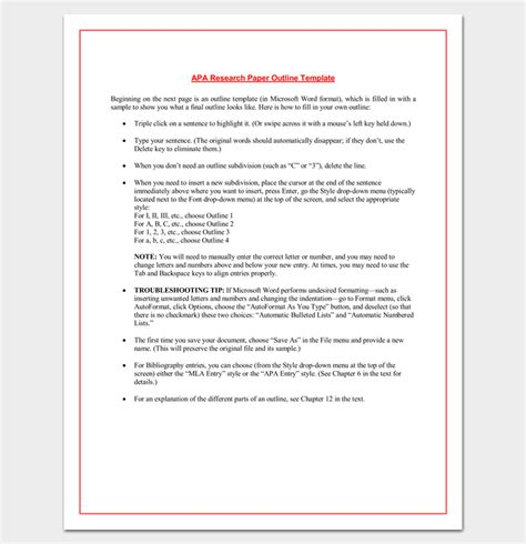 research paper outline template 9 download free documents in pdf