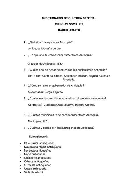 preguntas cultura general colombiana cultura general colombia