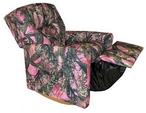 Pink Camo Recliner by True Timber Fabric Rocker Recliner With