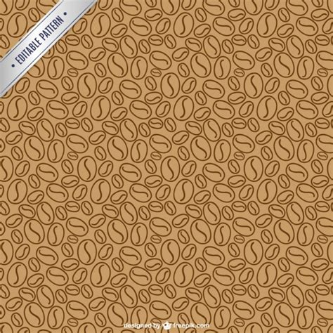 pattern coffee vector coffee beans pattern vector premium download