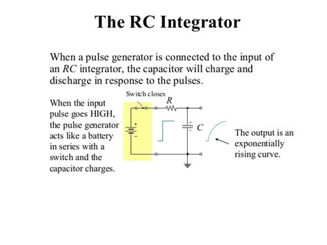 integrator circuit capacitor rc and rl differentiator and integrator circuit