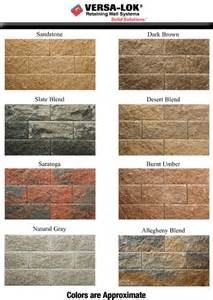 versa lok colors versa lok retaining wall systems color selection in