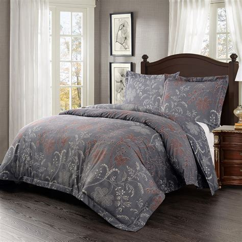 duvet cover set microfiber luxury printed lavender flower