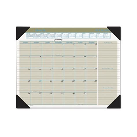 monthly desk pad calendar at a glance executive monthly desk pad calendar