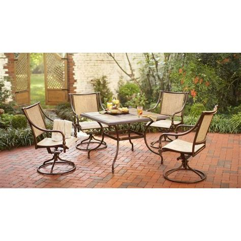 5 patio set 5 patio dining set bloggerluv