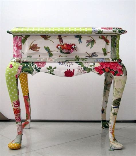 decoupage furniture with wrapping paper 39 furniture decoupage ideas give things a second