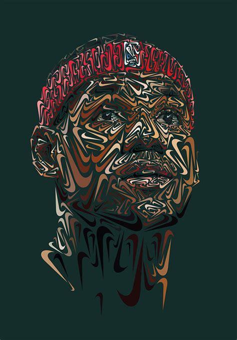 logo adorned portraits nike swoosh portrait