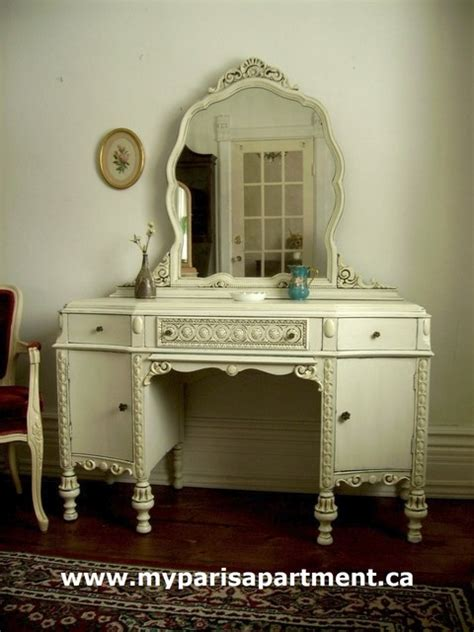shabby chic makeup vanity painted distressed shabby chic vintage vanities by my apartment traditional