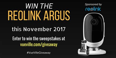 february sweeps 2017 win a reolink argus with vueville november 2017 vueville