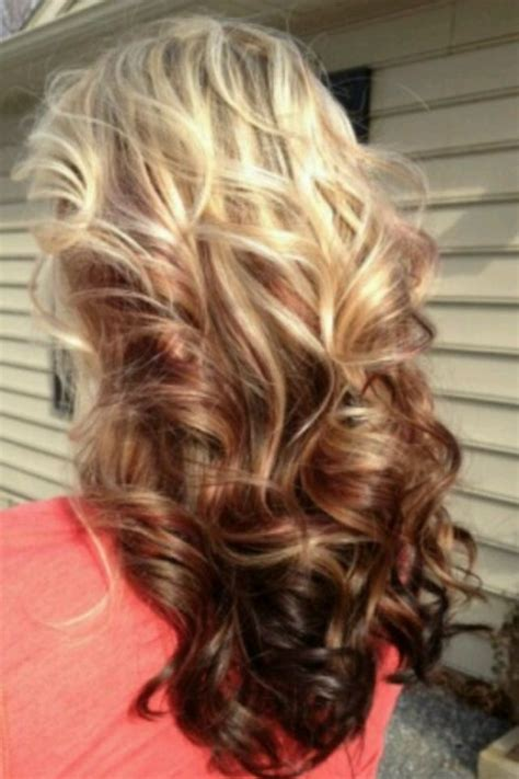 blonde top brown bottom hairstyles i want this but inverted with blonde on the bottom and the