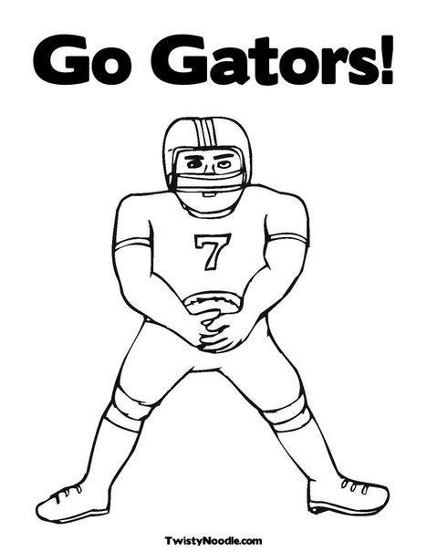 Florida Gators Football Coloring Pages Florida Gator Coloring Pages