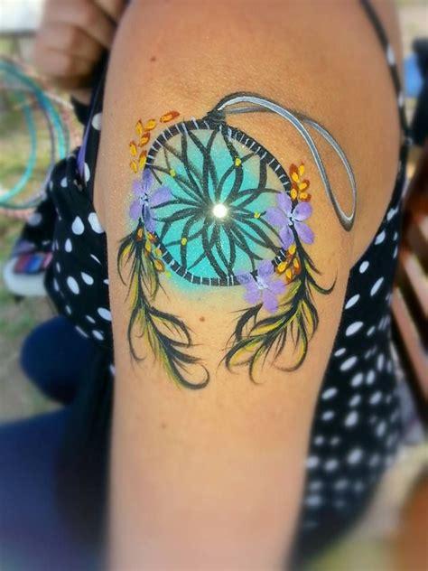 Mascara Cameleon dreamcatcher turquoise artist leslie heidner