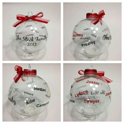 family christmas ornaments images  pinterest