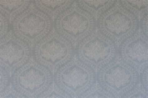 sacred lotus reverse bombay blue langton textiles