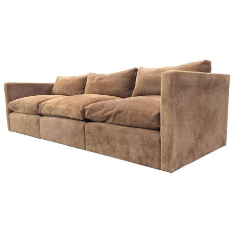 Suede Leather Sofa Suede Leather Sofa By Charles Pfister For Knoll At 1stdibs