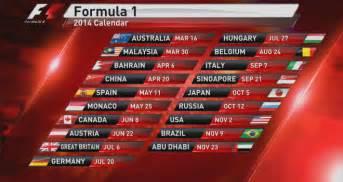 F1 Calendar 2018 Official Lista Das Equipas Para A Temporada Da F 243 Rmula 1 Em 2014