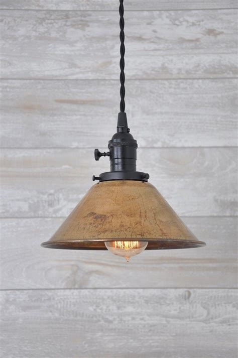 Copper Pendant Light Fixtures Unfinished Copper Spun Cone Industrial Pendant Light Fixture