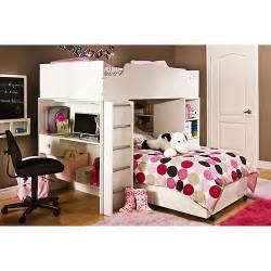 South Shore Bunk Bed South Shore Logik Loft Bed Collection White Walmart