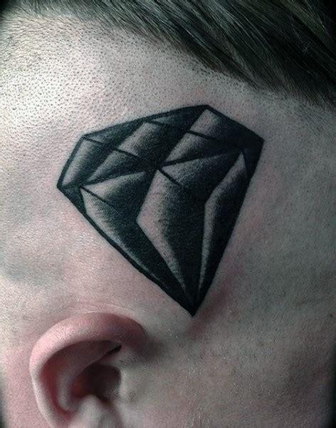 tattoo diamond black and white black and white detailed diamond tattoo on skull