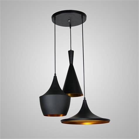 Lustre Plafonnier à 3 Lampes L 60 cm noir en aluminium