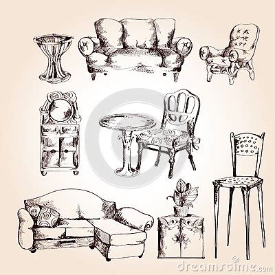 Sketch Chair Icons Set Sofa by Furniture Sketch Set Stock Vector Image 46953772