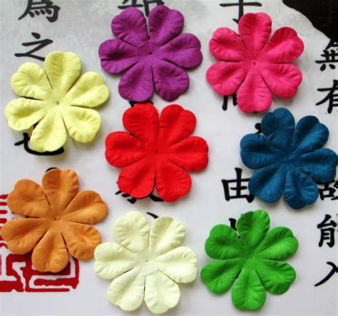 Paper Flowers For Scrapbooking - aliexpress buy scrapbook 5cm mixed color paper