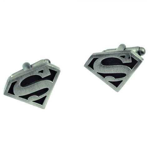 Cufflinks Cufflink Kancing Manset Black Silver Superman ties planet silver superman cufflinks from ties planet uk