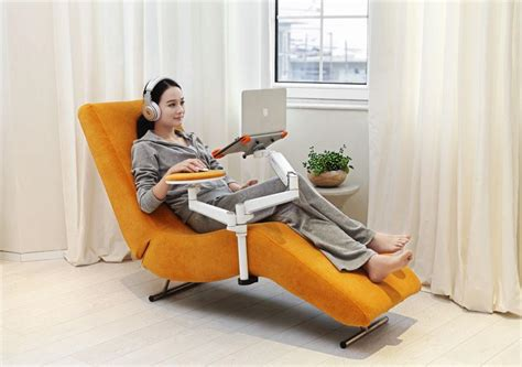 laptop stand for chair india ergonomic recliner chair with laptop and tablet arms ec04