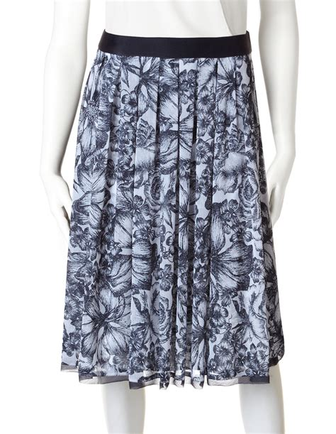 floral chiffon skirt navy floral chiffon skirt cleo