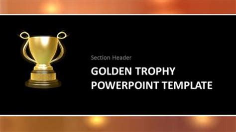 powerpoint award template golden trophy a powerpoint template from presentermedia