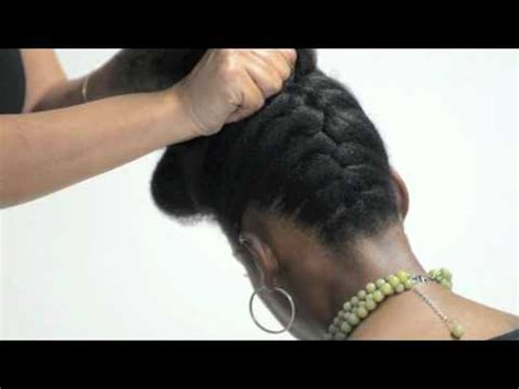 natural hair pinned up pump it up pin up natural hair tutorial by natural