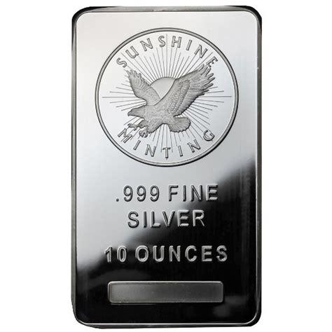 10 oz silver bar buy 10 oz silver bullion bars silver