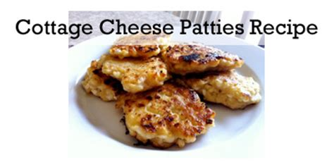 Cottage Cheese Patties by Fried Cottage Cheese Patties