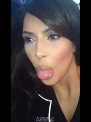 new mother kim kardashian sticks her tongue out in social media video kim kardashian s three second post north west birth video