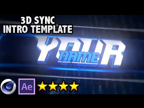 free after effects cinema 4d sync 3d intro template