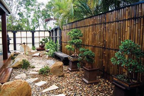 japanese style garden the bamboo fence new house