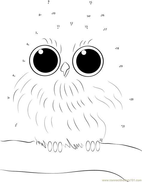 owl dot to dot printable baby owl dot to dot printable worksheet connect the dots