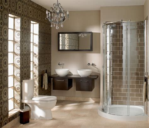 modern bathrooms for small spaces small space big look bathroom