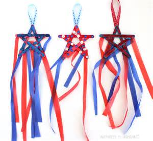 Easter Gift Ideas 4th Of July Kids Craft Popsicle Stick Star Streamers