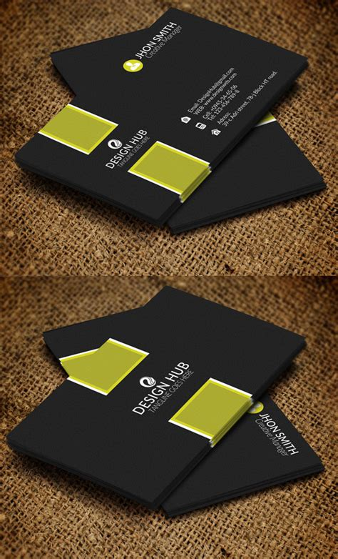 visiting card templates 26 modern business cards psd templates print ready design graphic design junction