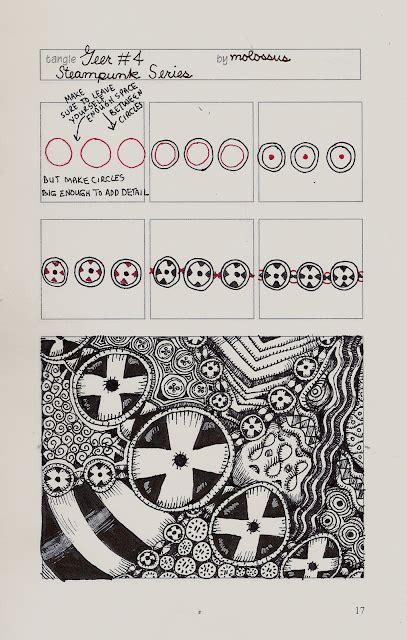 zentangle pattern organizer new tangle pattern geer four steunk series