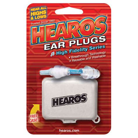 Hearos Protection Ear Plugs 33db Eceran 3 Pair Blue hearos high fidelity ear plugs 1 pair with ear protection and ear plugs accessories