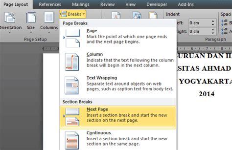 cara membuat halaman di tengah pada word cara membuat nomor halaman berbeda letak di word