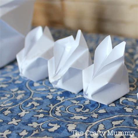Origami Balloon Bunny - origami bunny rabbit the crafty mummy