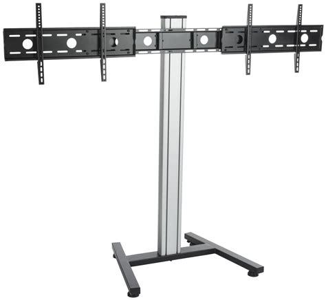 adjustable height floor l dual screen floor stand height adjustable mount