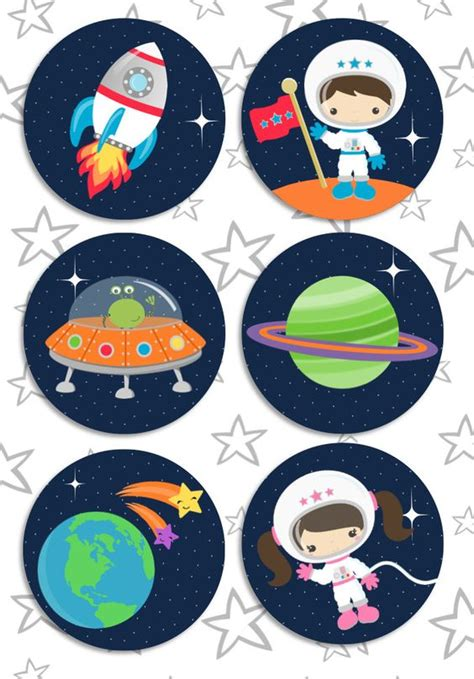 printable outer space name tags space rocket party pdf printable outer space personalized