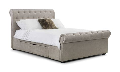 king size bed with drawers uk brindisi soft touch mink chenille storage king size bed