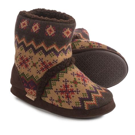 muk luks bootie slippers muk luks zigzag bootie slippers for save 70