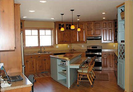 kitchen triangle with island retirement home lake foster and hudson home